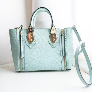 Henri Bendel A-List Mini Croco Leather Satchel Bag